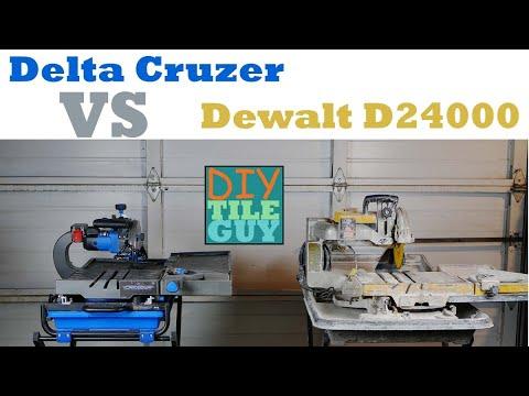 Delta Cruzer 7-inch tile saw vs Dewalt D24000 | The Good and the Bad | Tool Review | DIYTileGuy