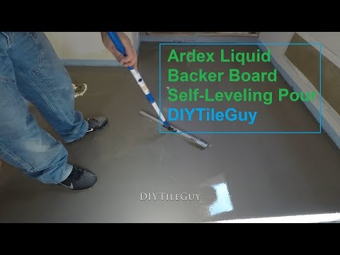 Pouring Self Leveling over a Bathroom Floor