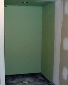 drywall shower sheetrock