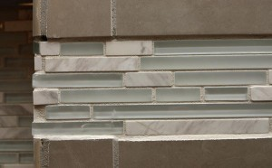 crooked uneven accent tile