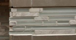 crooked uneven accent tile