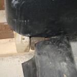 improper tile liner corner