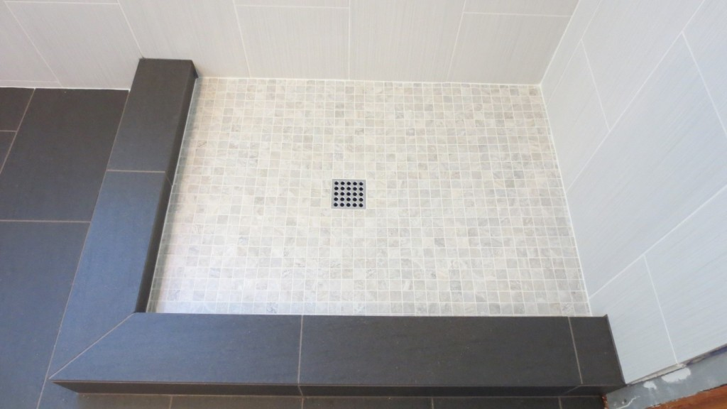 Ebbe shower drains in designer finishes for tile showers- blog post
