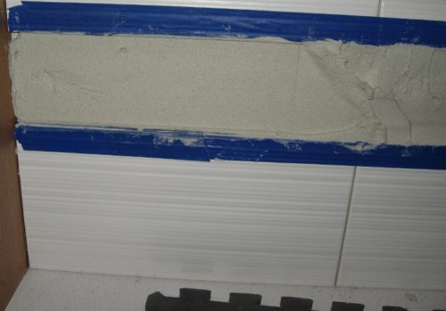 thinset in tile accent channel