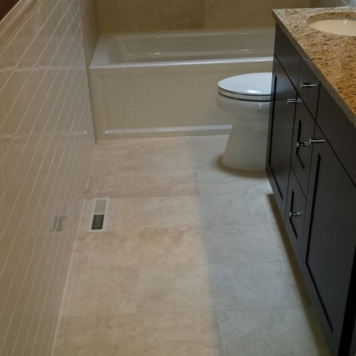 how to lay bathroom floor tile and