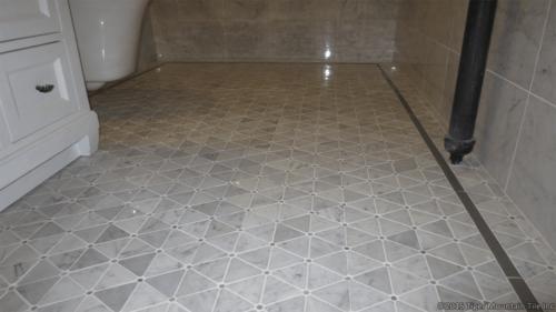 carrara marble mosaic floor