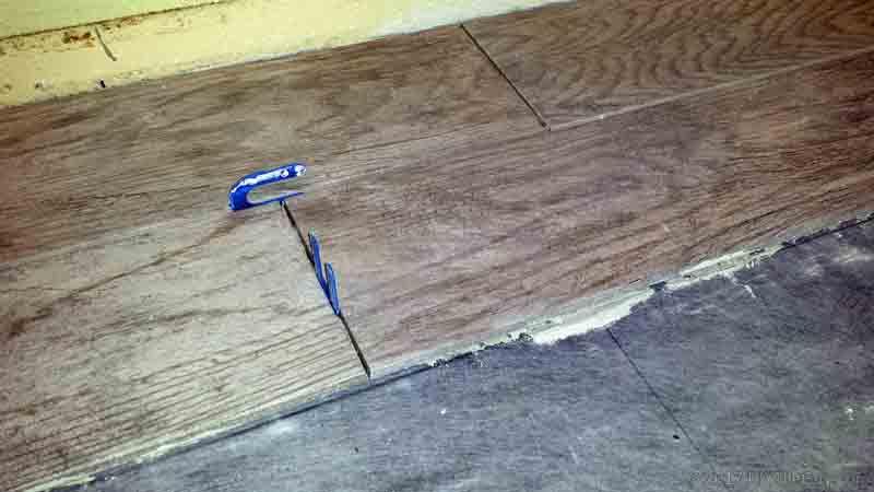 installing wood look tile