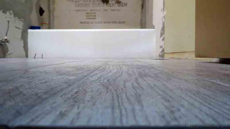 installing wood-look plank tile