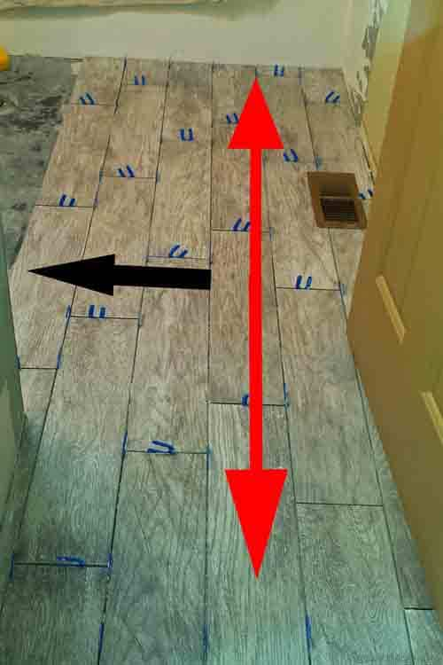 how to install wood plank tiles