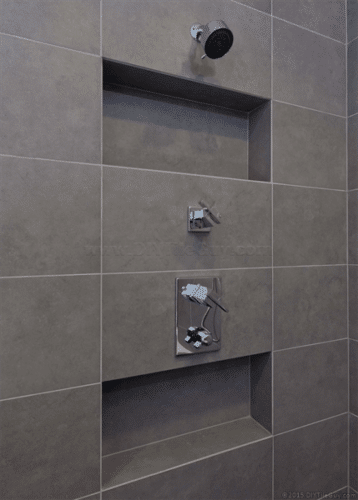 A Recessed Shampoo Niche In An Exterior Wall Diytileguy