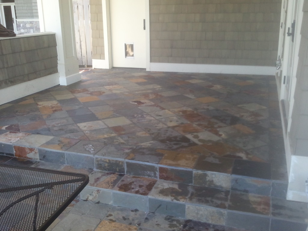 Exterior: Exterior Tile Installation Over Occupied Space