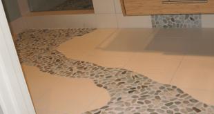 Pebble Tile Flooring Path