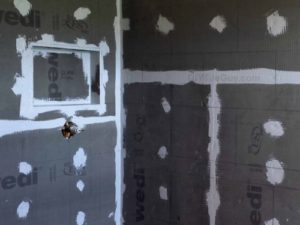 Wedi backer board shower