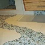 pebble tile path