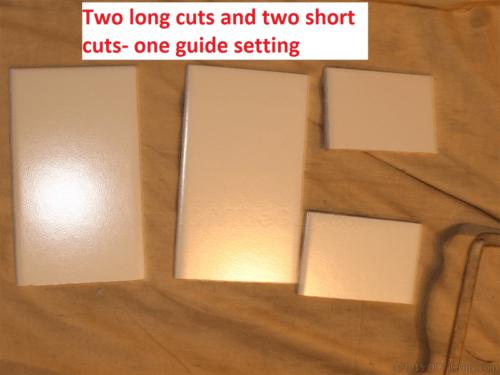 4 cut ceramic subway tiles