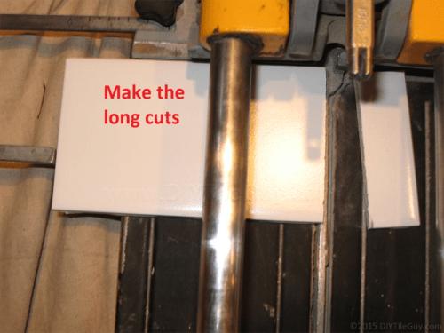 Ceramic subway tile long cut
