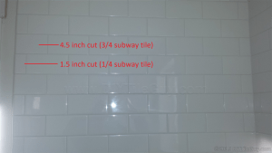 quartering subway tile layout