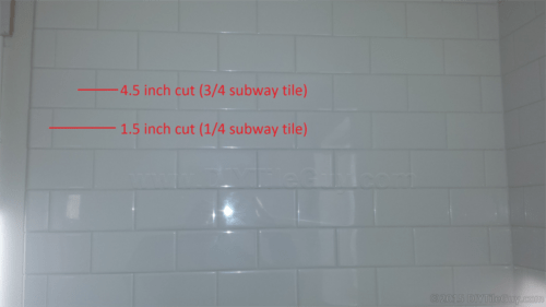 quartering subway tile layout