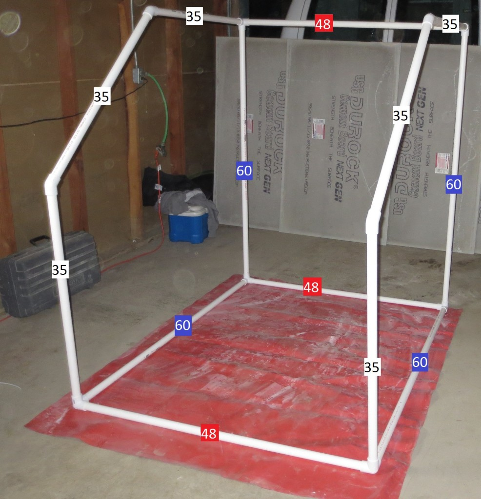 wet saw tent frame