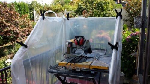 DIY wet saw tent