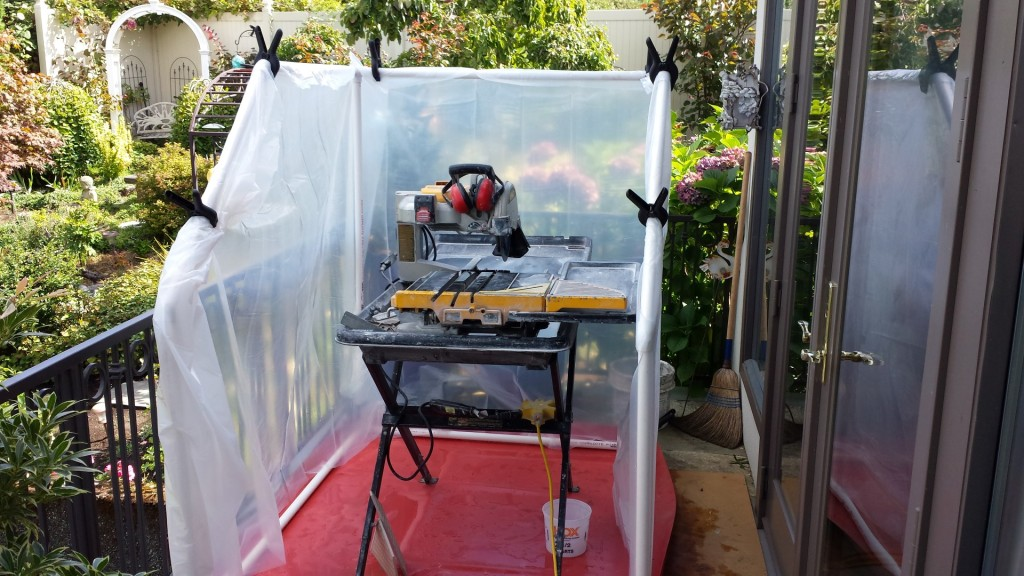 DIY Wet Saw Shack