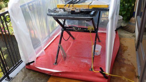DIY Tile Saw Tent
