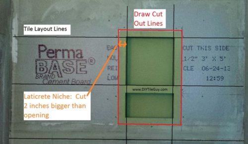 cut wall Hydroban niche