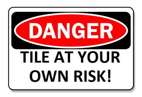 tile risk danger sign
