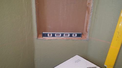 framing shower niche