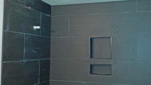 preformed foam niche with shelf