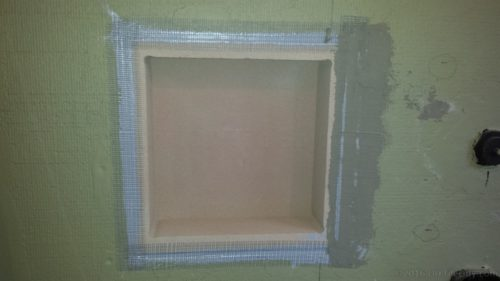 mesh tape mud foam niche