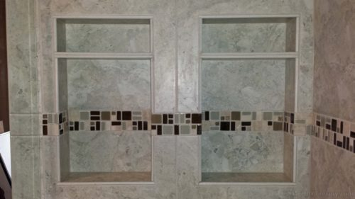 two niches tile bullnose shelf