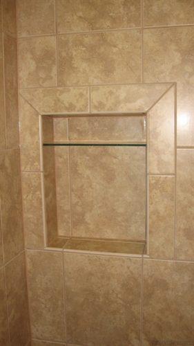 bullnose tile around niche