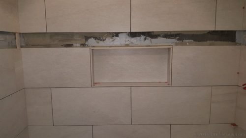 shower niche building