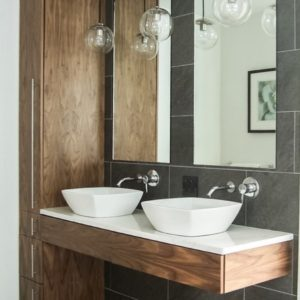 double sink floating vanity
