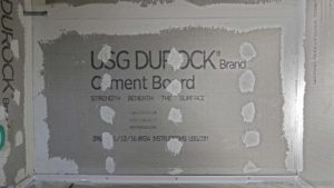 Durock cement board waterproof
