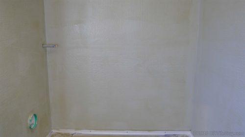 Laticrete Hydroban waterproofing over backer board walls