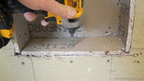 screwing cement board