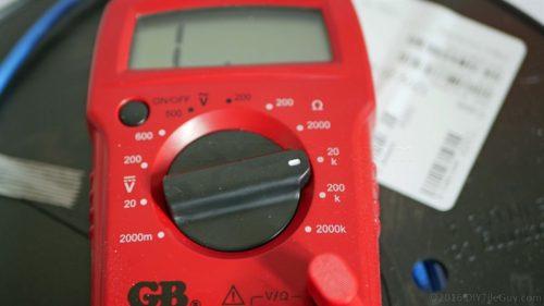 heated tile floor ohm meter