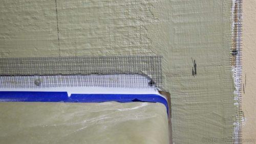 mesh tape over tub gap seam