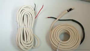 two electric radiant heat sensors