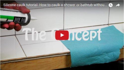 Silicone Caulk How To Caulk A Shower Or Bathtub Diytileguy