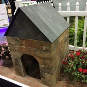 tiled dog house