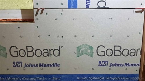 goboard shower tile backer board