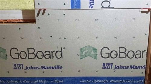 goboard shower tile backer board