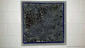 black pebble tiles