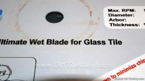 glass tile diamond blade