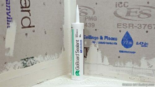 goboard tile backer board sealant tube