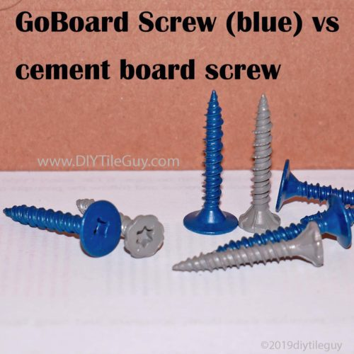 goboard screws vs cement board screws