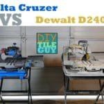 Delta Cruzer 7-inch Tile Saw vs Dewalt D24000 | Tool Review